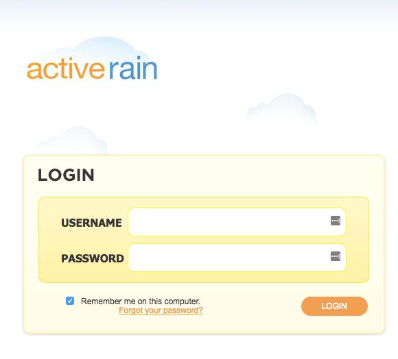 ActiveRain_Login