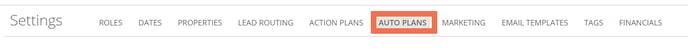 Auto Plans tab