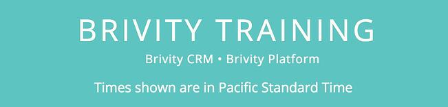 Brivity Training